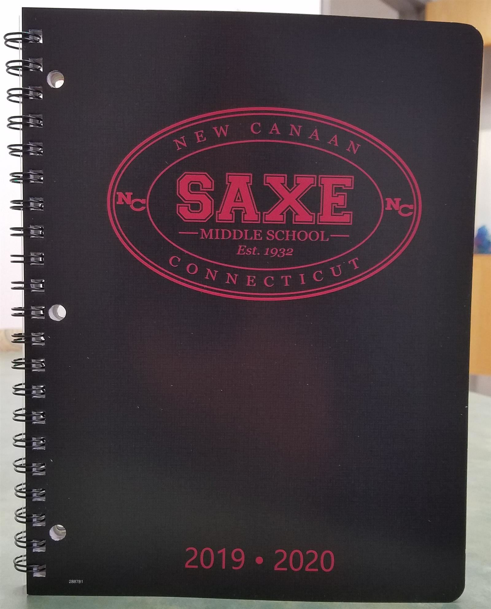 Saxe Student Planners Available for Purchase