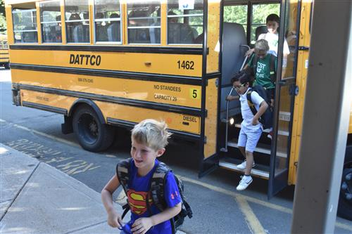 Students return for First Day of School