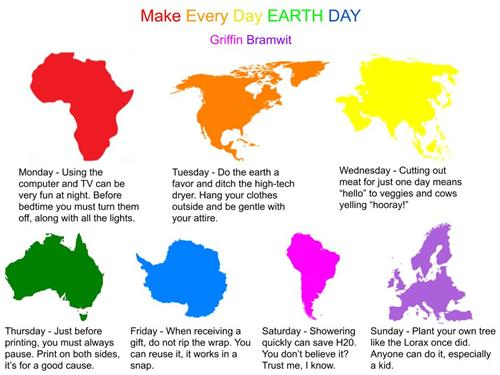 Earth Day Poster: Saxe Middle School