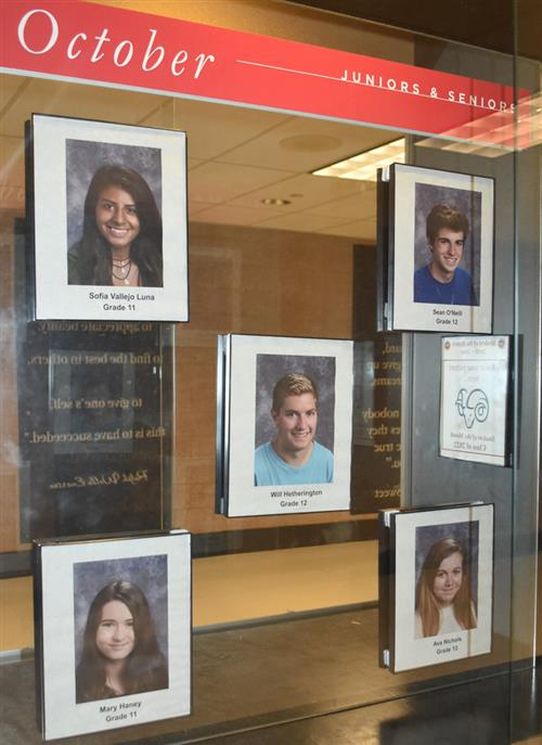 Juniors and Seniors - NCHS Students of the Month