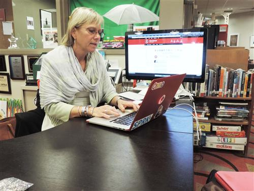 NCHS Librarian Michelle Luhtala earns Social Media Superstar status