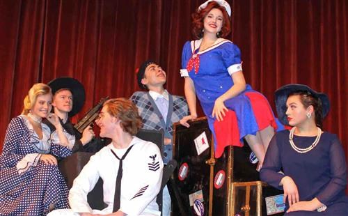 "Members of ""Anything Goes"" cast"