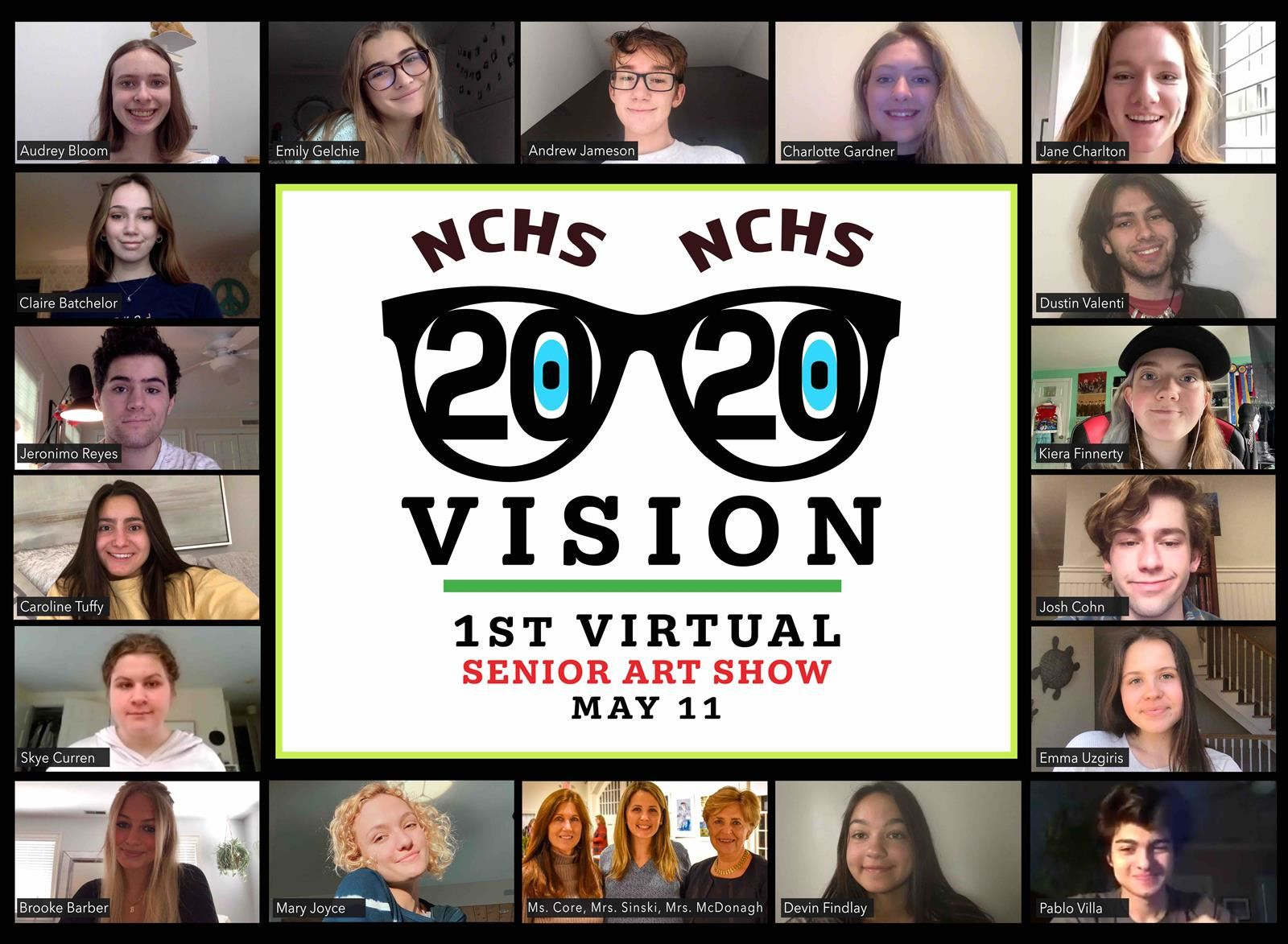 """2020 Vision"" NCHS Senior Art Exhibition is a virtual display."