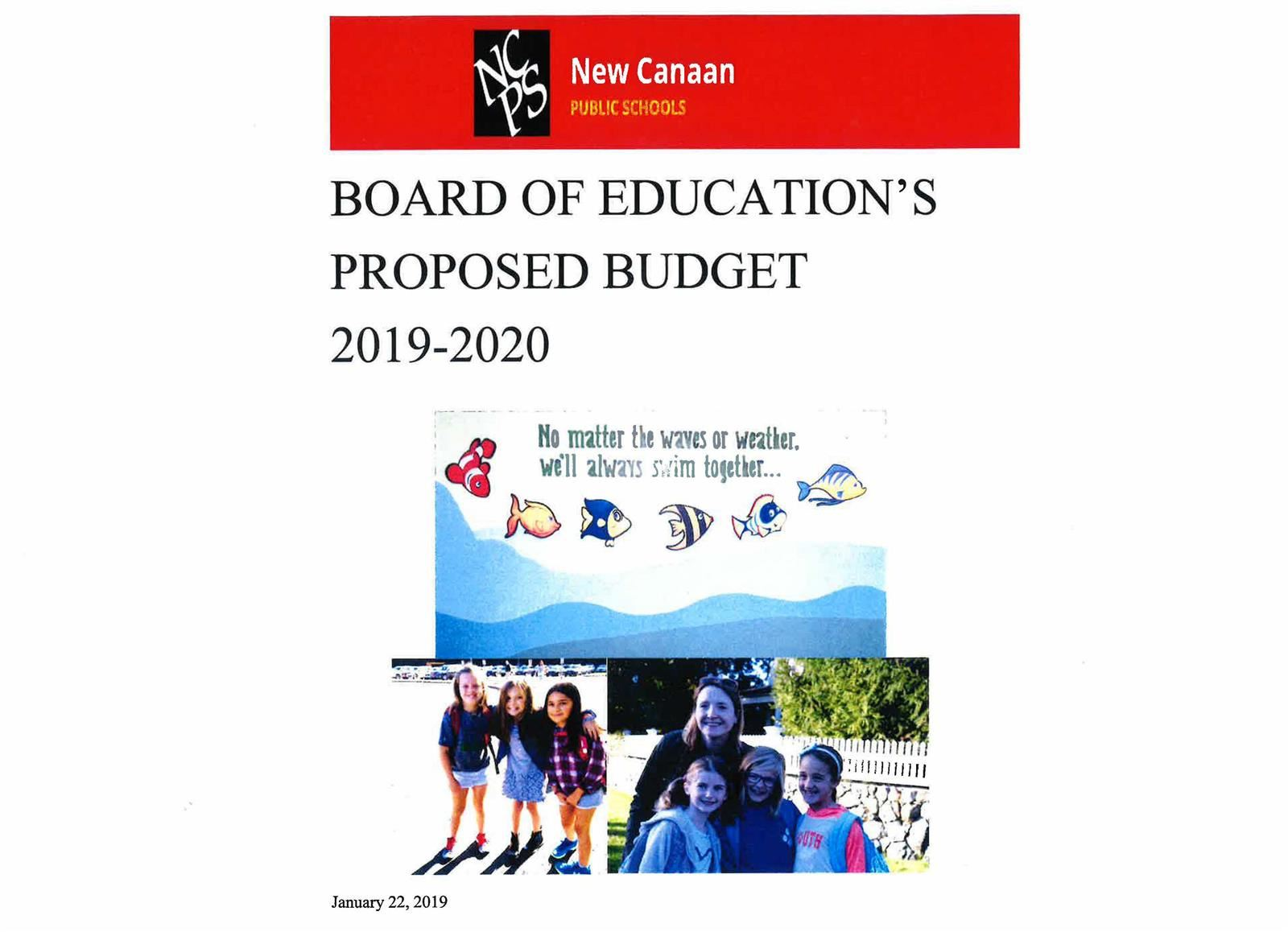 Board of Education accepts Superintendent's Proposed Budget 2019-2020