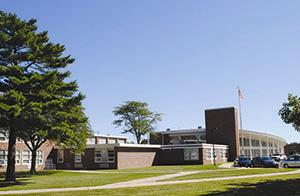 Exterior view of Saxe Middle School