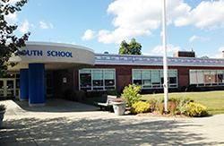 Exterior view of South Elementary School entrance