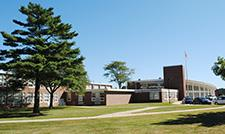 Exterior view of Saxe Middle School looking from South Ave.