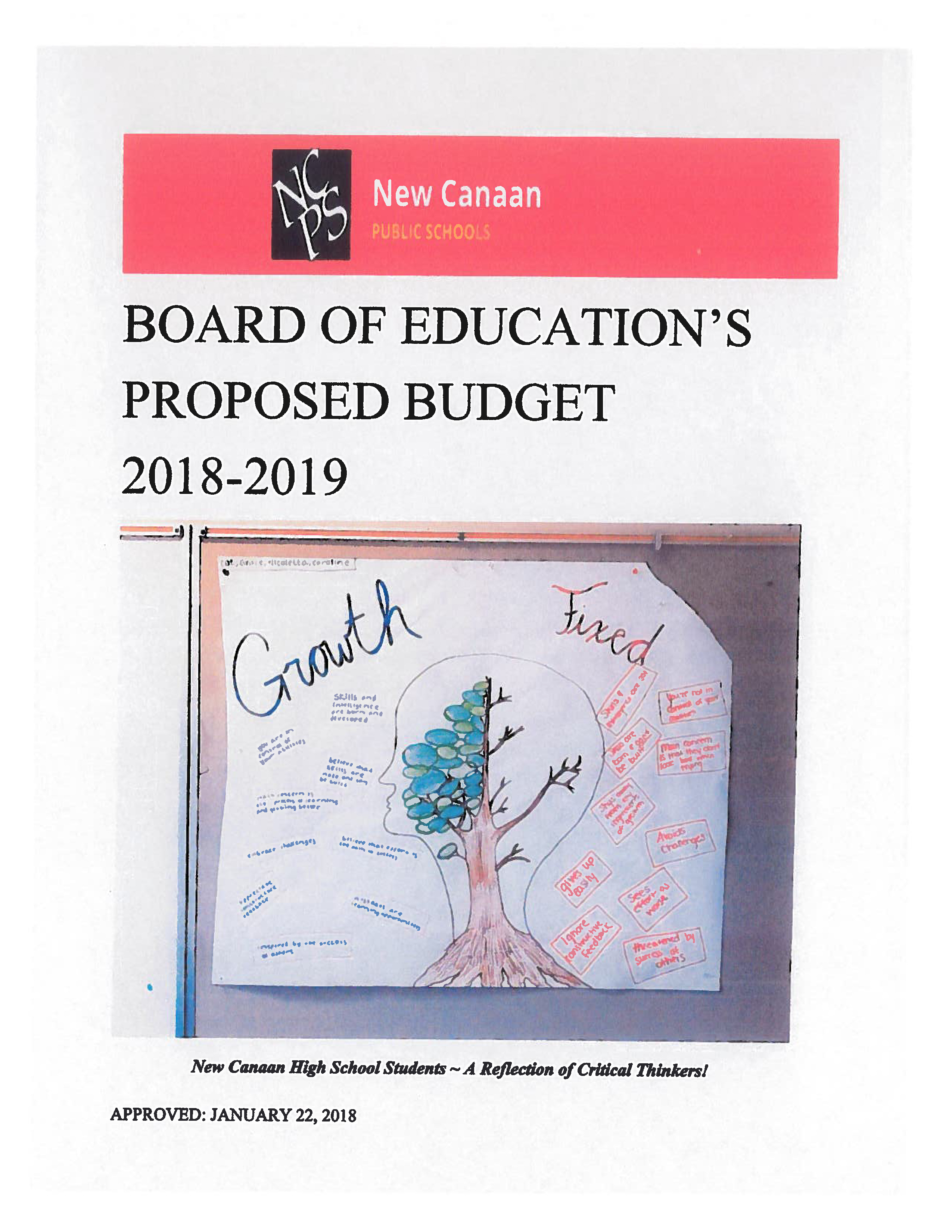 BOE Proposed Budget 2018-2019