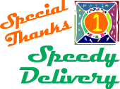 image text speedy delivery special thanks