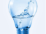 image of light bulb with water