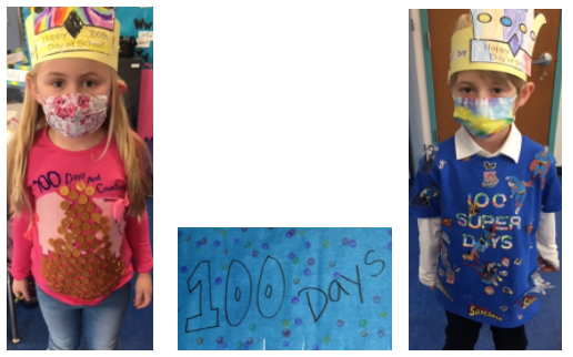 photos of students on 100th day of school