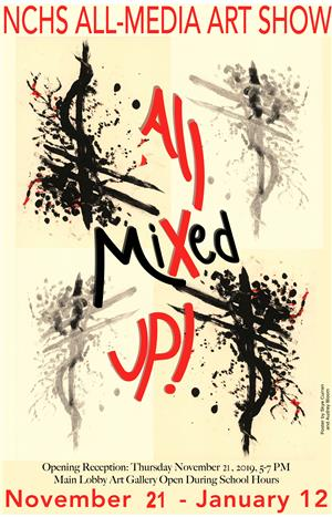 All Mixed Up Art Show Poster