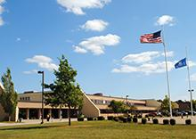 Exterior view of NCHS on a sunny day