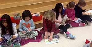 image of students reading